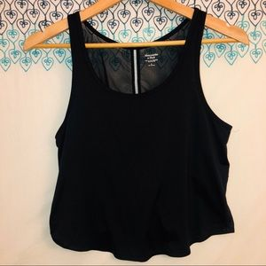 Abercrombie and Fitch sheer cropped top size S